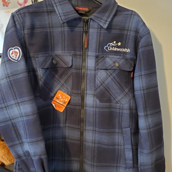Brand New Zip Front Plaid Jacket Shirt